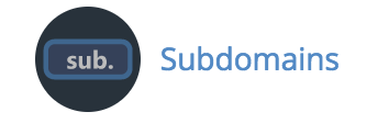 Screenshot of Subdomains in cPanel